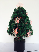Indoor Mini LED Artifical Christmas Tree Decoratived Red Flowers Lights, Table Christmas Tree