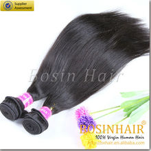 6A grade colored natural and soft brazilian human hair weaving