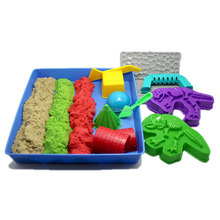 with 13pcs, deluxe dynamic sand Molds manufacture kinetic sand for kids educational toys