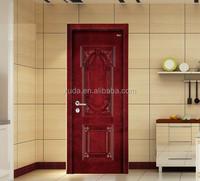 Cheap modern single or double solid wood bedroom door price