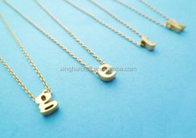 Wholesale Lasted Design Fashion Meaningful Initial Letter Pendant Necklace, Monogram Collar Necklace