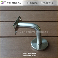 316 Stainless Steel Satin Wall Mounted Wall Bracket For Handrail