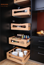 New design for Small wood peg kitchen cabinet Drawer Organizer