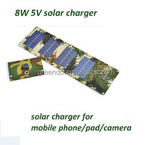 BEST quality 8W 5V Portable folding solar charger mobile power for mobile phone pad camera outdoor adventure and wild treasure
