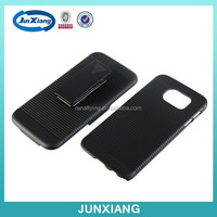 Factory price shell holster combo case for samsung galaxy S6 with swivel belt clip