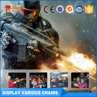Electric interactive movies system project truck mobile 7d theater equipment simulator 7d cinema