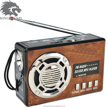 Fm mini radio with mp3 player and torch light