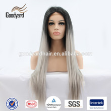 Top quality wholesale price cheap human hair indian remy gray hair full lace wig