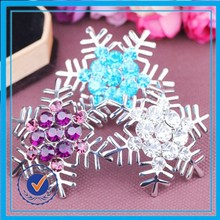 christmas gifts wholesale enamel flower safety pin for brooches elegant snowflake brooch