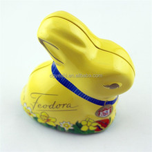 Rabbit Shaped Metal Tin Box For Candy