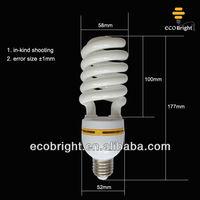 half spiral 30W energy saving lamp bulbs