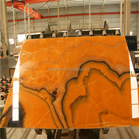 2015 Mexico translucent polished orange onyx slab 18mm