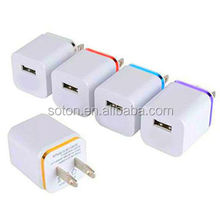 New style wall mount usb charger with 1000mAh for mobile phone