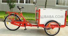 3 wheel foldable frame cargo bike /street vending tricycle for sale