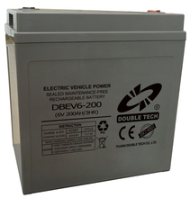 NEW BATTERY MODEL - Electric Vehicle power battery sealed maintenance free rechargeable battery 6v 200ah (3HR)