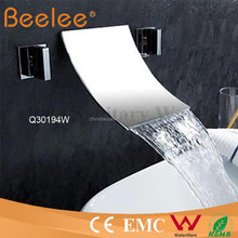 3 pcs set brass dule handle bath&shower faucet rainfall wall mounted faucet