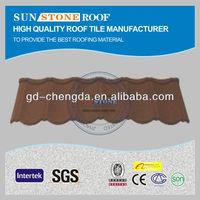 Korea standard granule building material sheet roof tile in guangzhou