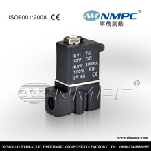 """Electric water valve flow control 2P025-06 lead wire 1/8""""NPT ,PT or G thread type,Two-Way ,Gas,Plastic body"""