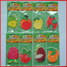 cheap price custom cherry,apple,strawberry air freshener for car