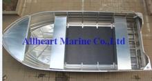 2015 venta caliente de remo 5m certificación CE de aluminio bote abierto para la pesca