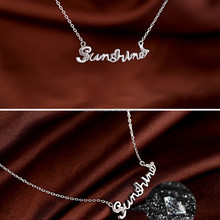 high quality 316L stainless steel plated silver personalized name necklace