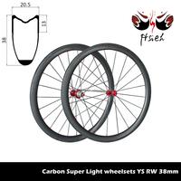 700C 38mm carbon superlight wheels,carbon road bike wheels factory sale