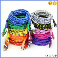 hotsale High quality nylon braided mini USB android data cable type A male to Mini 5pin male for samsung S3/S4