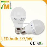 AC85~265v LED bulb light 5W/7W/9W globe LED bulb E27 high lumen