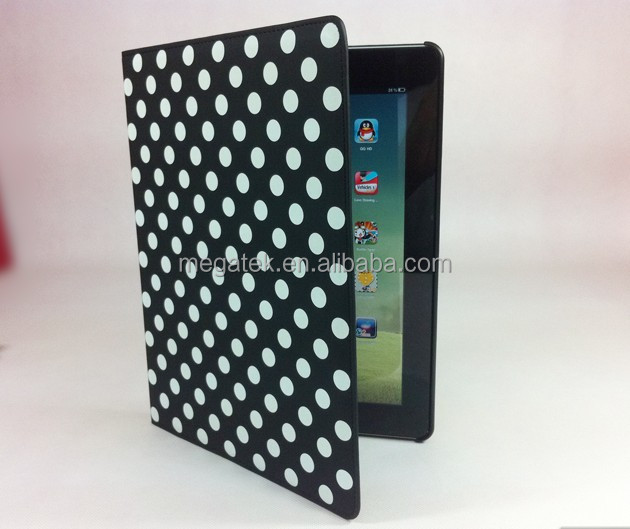 Tablet case cover polka dot folio case cover for ipad air ,for ipad air cover