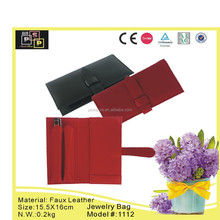 fashion hot selling custom leather jewelry pouch