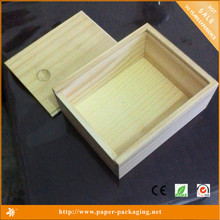 Wholesale Custom Pine Wood Plank Wooden Gift Boxes with Sliding Lids