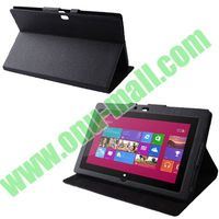 Factory Price Leather Stand Portfolio Case for Microsoft Surface RT and Pro