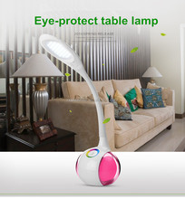 LED touch dimmer switch 256Colors 5W powerbank USB LED Eye Care LED Table lamp swan designer colorful LED reading lamp