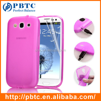 Set Screen Protector And Case For Samsung Galaxy S3 I9300 , Roseo Silicone TPU Phone Case