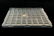 Transparent antistatic plastic electronic tray, PVC/PET/PS blister packing tray