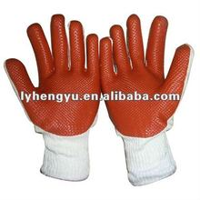 2012 Red Rubber Coated Gloves in Reasonable Price