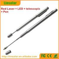 Teacher usage telescopic laser pointer pen, red color laser pointer, telescopic pointer pen