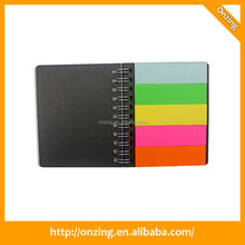 Onzing new hard cover box with sticky note memo pad sticky index tabs