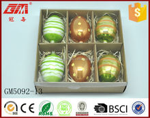 Factory Supplier hand painted hanging Easter egg