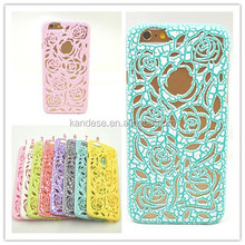 Hot new products for 2015 New Arrival Rose Flower Mesh Hole Net Back Skin Cover Case For iPhone 5 5G