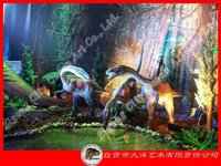 Different sizes of garden decoration dinosaur statues