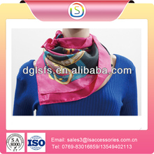 Ladies Fashion Hot Sell Green Color Polyester Chevron Infinity Scarf