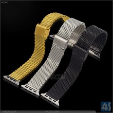 Luxury Premium Metal Stainless Steel Watch Strap for Apple Watch 38mm 42mm