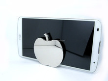 Apple Shiny Nickel Plated Zinc Alloy Metal Mobile Phone Holder