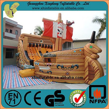 factory sale giant water slide boat for kids, inflatable water slide boat for adults