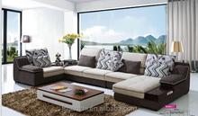2015 L shape new fabric sofa design 959