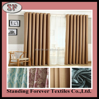 Wholesale 100% polyester jacquard colorful linnet fireproofing blackout Curtain Fabric, cheap turkish design curtain fabric