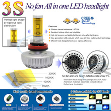 high quality CE RoHS ISO9001 3S car led light lamp 9006 ip65 all in one fanless design