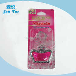 The crown shape Promotion hanging car membrane Air Freshener.