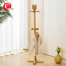 wood hanger frame children fashion hanger landing simple modern wood color coatrack